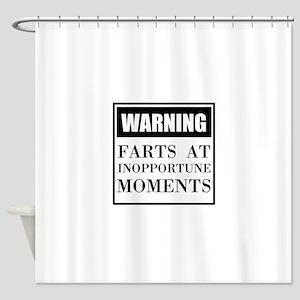 Fart Warning Shower Curtain