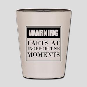 Fart Warning Shot Glass