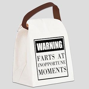 Fart Warning Canvas Lunch Bag