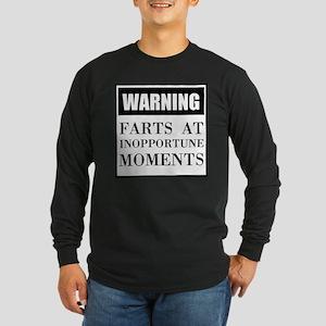 Fart Warning Long Sleeve T-Shirt
