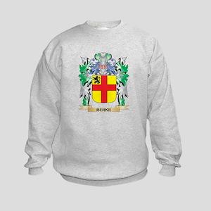 Burke Coat of Arms - Family Crest Kids Sweatshirt