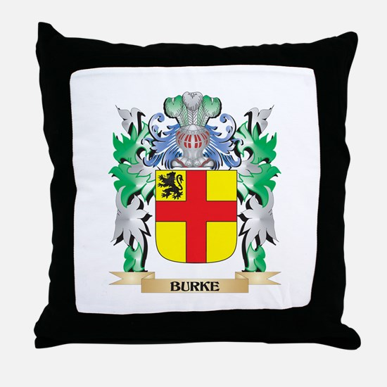 Burke Coat of Arms - Family Crest Throw Pillow