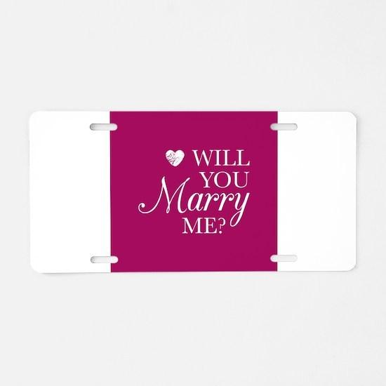 Marry Me Aluminum License Plate