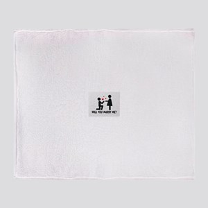 Marry Me Throw Blanket