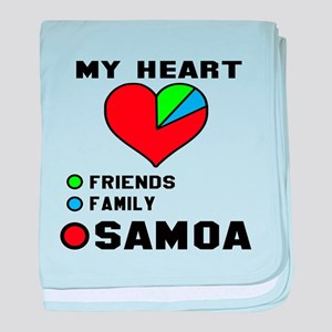 My Heart Friends, Family and Samoa baby blanket