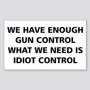 Idiot Control Sticker