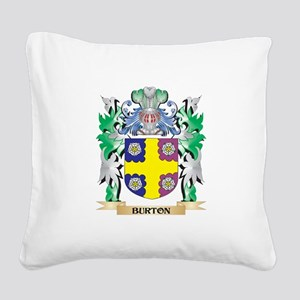 Burton Coat of Arms - Family Square Canvas Pillow