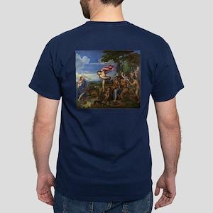 Bacchus and Ariadne by Titian Dark T-Shirt