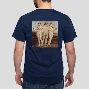 Three Graces by Raphael Dark T-Shirt