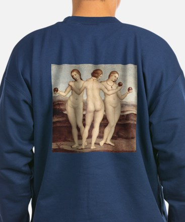 Three Graces by Raphael Sweatshirt (dark)