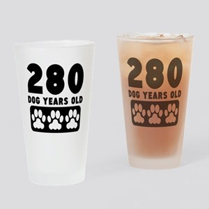 280 Dog Years Old Drinking Glass