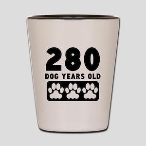 280 Dog Years Old Shot Glass