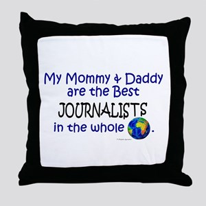 Best Journalists In The World Throw Pillow