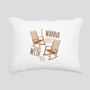 Rock With You Rectangular Canvas Pillow