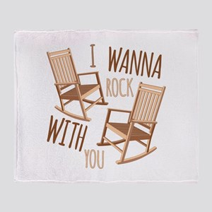 Rock With You Throw Blanket