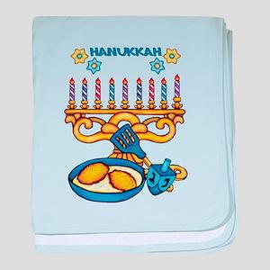 Hanukkah Menorah, Latkes, Baby Blanket