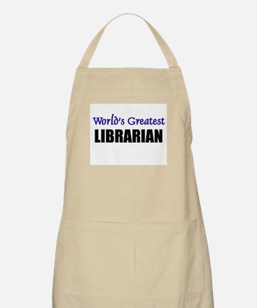 Worlds Greatest LIBRARIAN BBQ Apron