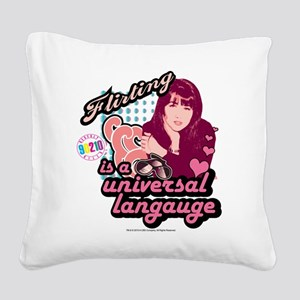 90210: Brenda Walsh Flirting Square Canvas Pillow