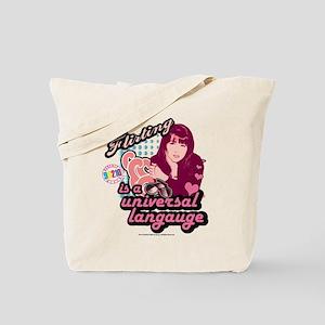 90210: Brenda Walsh Flirting Tote Bag