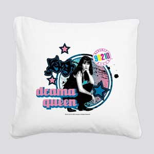 90210: Brenda Walsh Drama Que Square Canvas Pillow