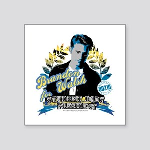 "90210: Brandon Walsh Square Sticker 3"" x 3"""