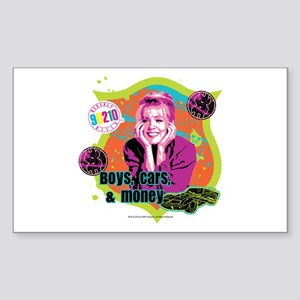 90210: Kelly Taylor Boys,Cars, Sticker (Rectangle)