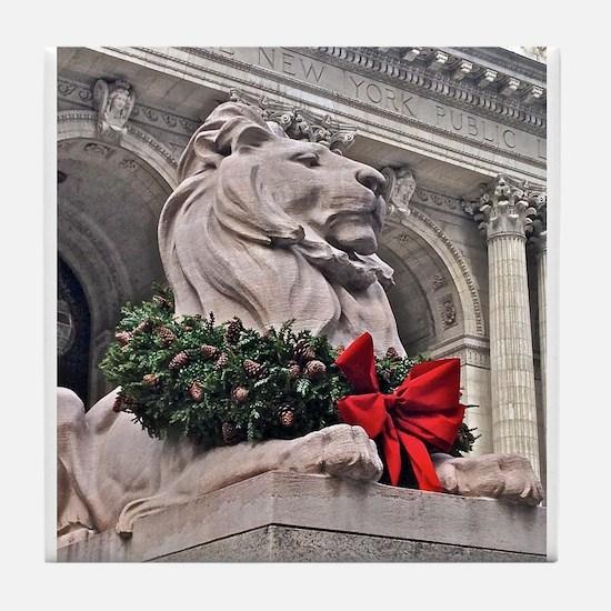 New York Public Library Lion Tile Coaster