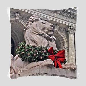 New York Public Library Lion Woven Throw Pillow