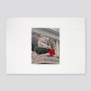 New York Public Library Lion 5'x7'Area Rug