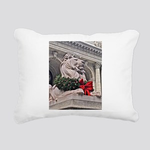 New York Public Library Lion Rectangular Canvas Pi