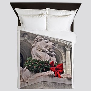 New York Public Library Lion Queen Duvet