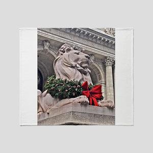 New York Public Library Lion Throw Blanket
