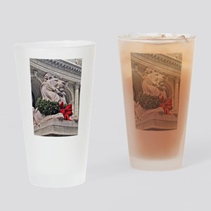 New York Public Library Lion Drinking Glass