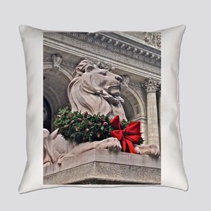 New York Public Library Lion Everyday Pillow