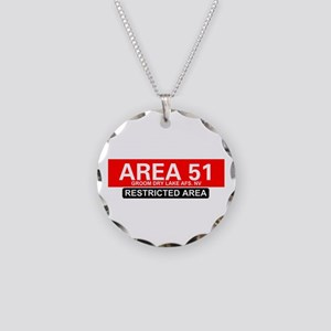 AREA 51 - GROOM LAKE Necklace Circle Charm