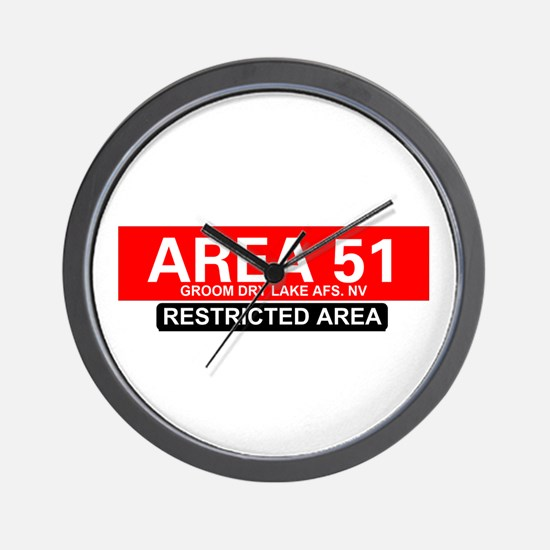AREA 51 - GROOM LAKE Wall Clock