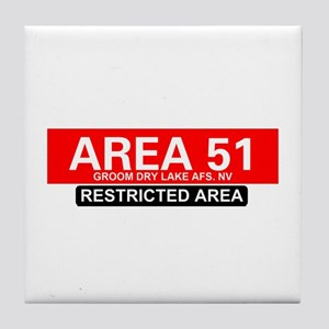 AREA 51 - GROOM LAKE Tile Coaster