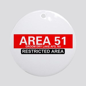 AREA 51 - GROOM LAKE Round Ornament