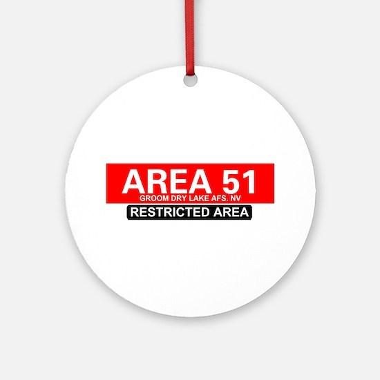AREA 51 - GROOM LAKE Round Ornament