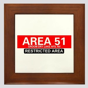 AREA 51 - GROOM LAKE Framed Tile