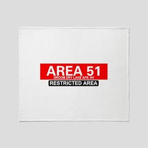 AREA 51 - GROOM LAKE Throw Blanket