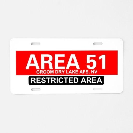 AREA 51 - GROOM LAKE Aluminum License Plate