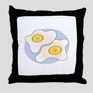 Fried Eggs Throw Pillow