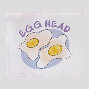 Egg Head Throw Blanket