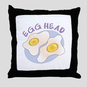 Egg Head Throw Pillow