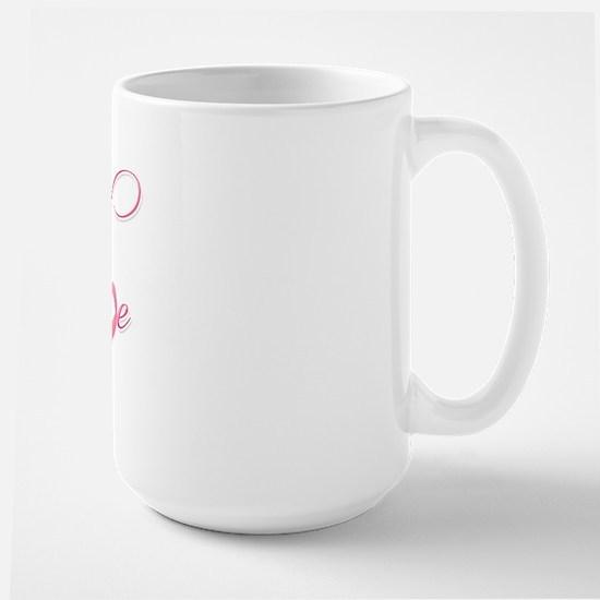 Hope - Pink Ribbon Breast Cancer Awaren Large Mug