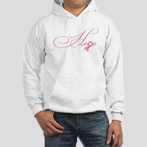 Hope - Pink Ribbon Breast Cancer Hooded Sweatshirt