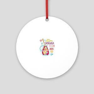 Sangria Per Mia Round Ornament