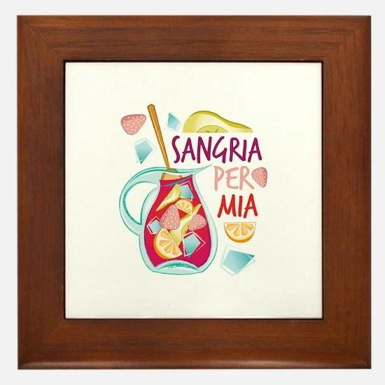 Sangria Per Mia Framed Tile
