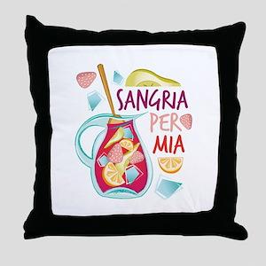 Sangria Per Mia Throw Pillow
